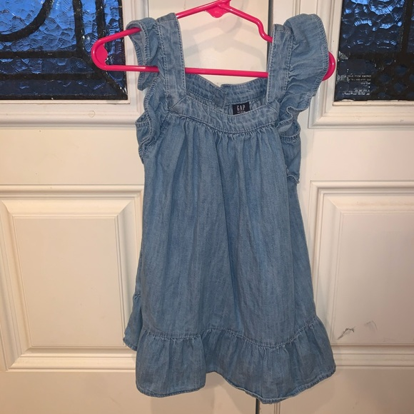 Gap chambray denim dress
